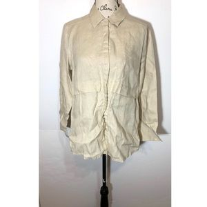 Symple Button Down Collared Shirt Linen